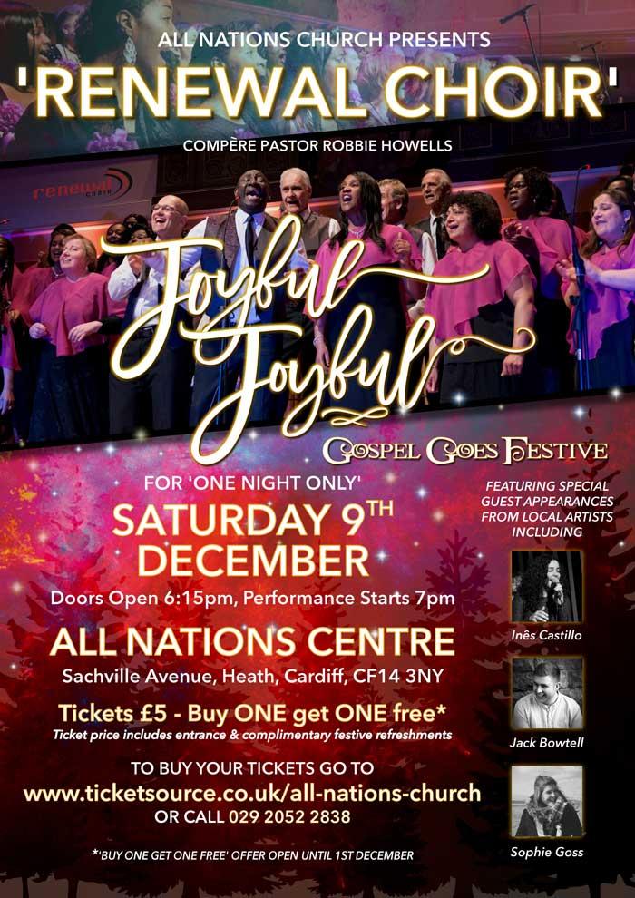 Joyful, Joyful Gospel Goes Festive, Cardiff – Saturday 9 December